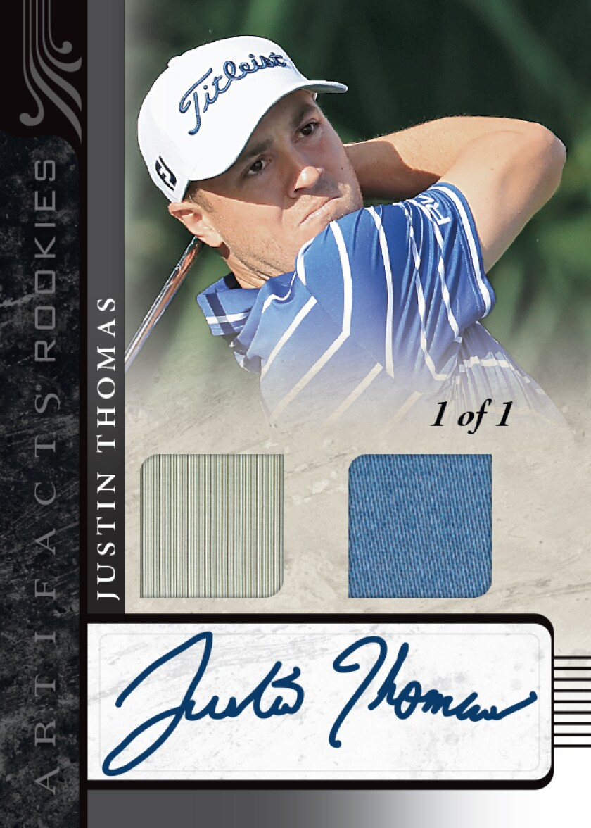 Upper Deck Justin Thomas trading card