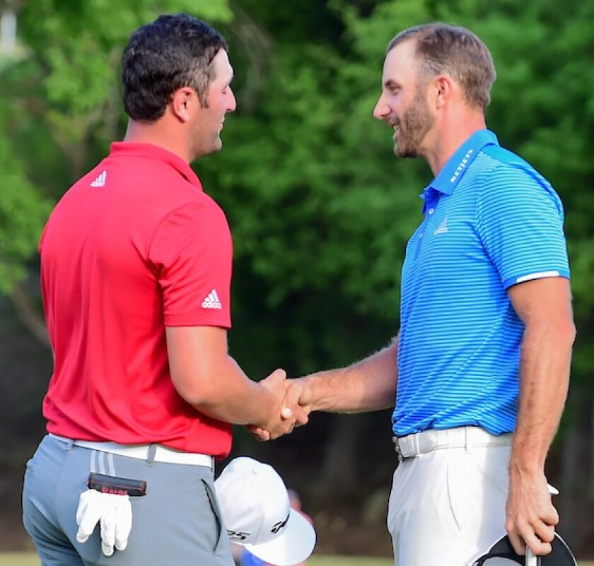 Dustin Johnson defeats Jon Rahm in 2017 WGC Dell Match Play final