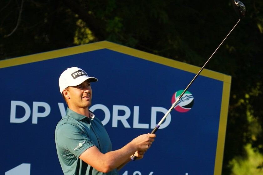 Victor Perez at first round of 2020 DP World Tour Championship