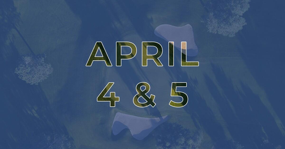 Golf News Hub - April 4 & 5 - Live Golf News