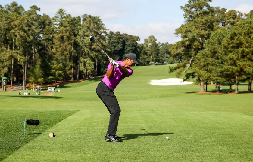 Tiger Woods in 3rd round of 2020 Masters