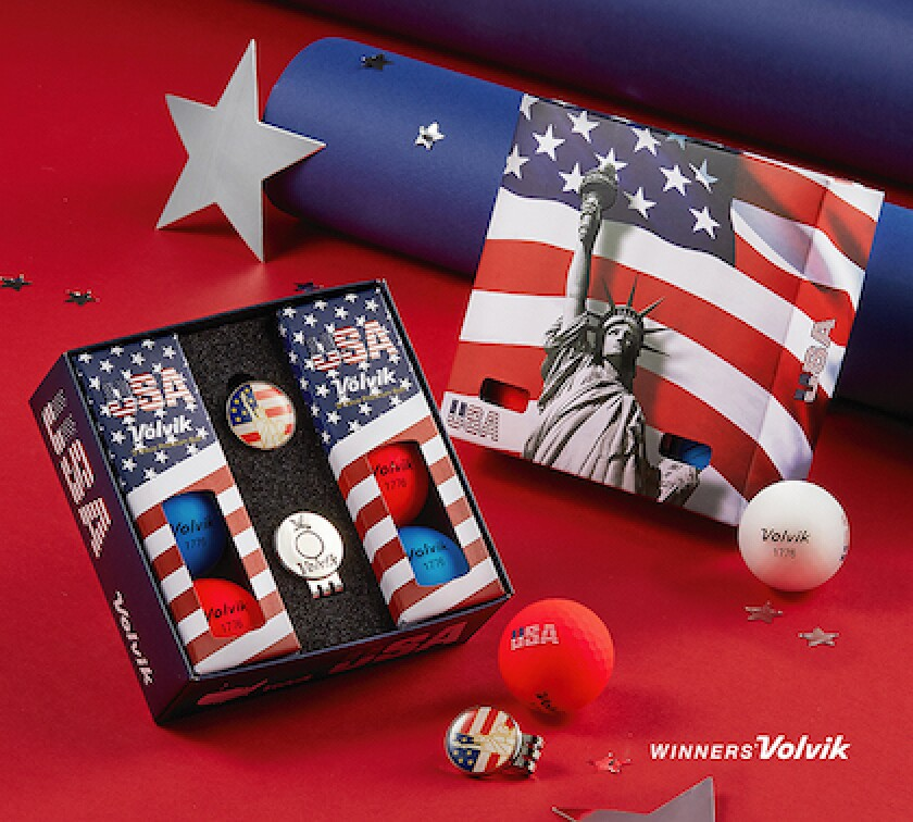 Volvik Vivid USA 6-Ball Pack