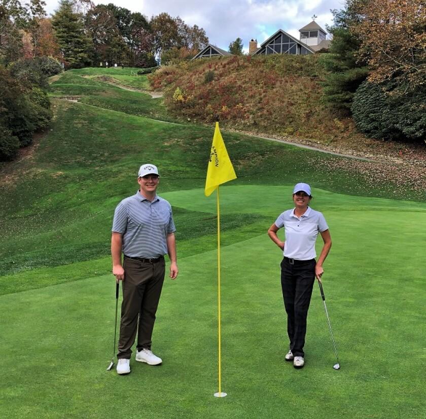 Champion Hills golf marathon Scooter Buhrman and Dana Schultz