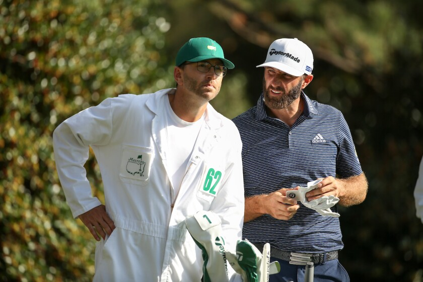 Dustin Johnson and brother caddie Austin win 2020 Masters The Masters Augusta National Golf Club