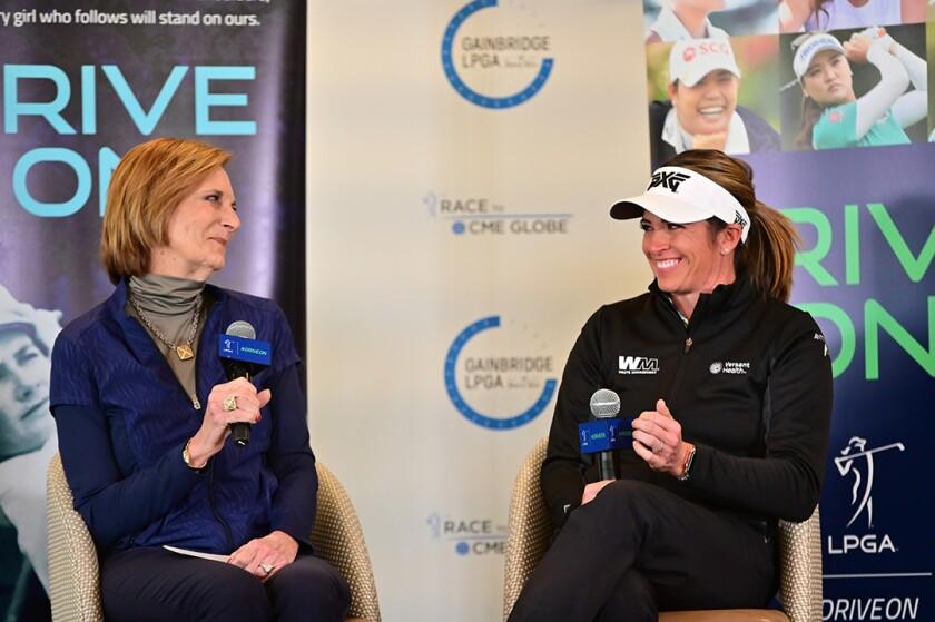 Roberta Bowman of LPGA with player Gerina Piller