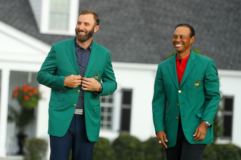 The 2020 Masters Tournament at Augusta National Golf Club. Dustin Johnson wins his first green jacket.
