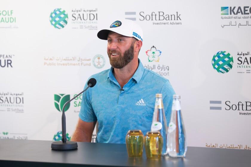 Dustin Johnson at 2021 Saudi International