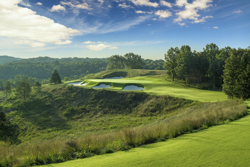 The 8th hole at Ozarks National Golf Course