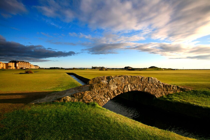 Old Course At St. Andrews, Swilcan Bridge