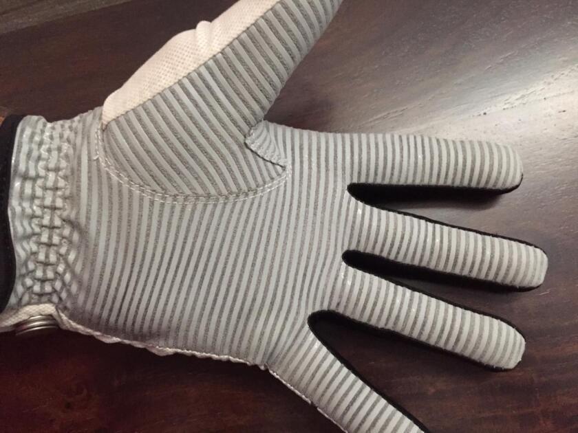 CaddyDaddy Claw glove worn on hand