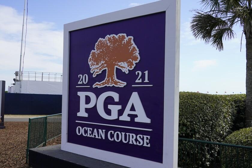 2021 PGA Championship sign at Kiawah Island Resort Ocean Course