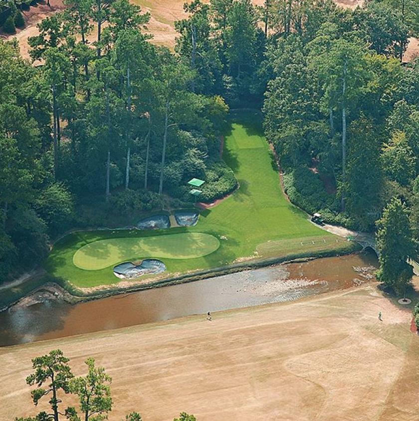Aerial of Augusta National summer 2020