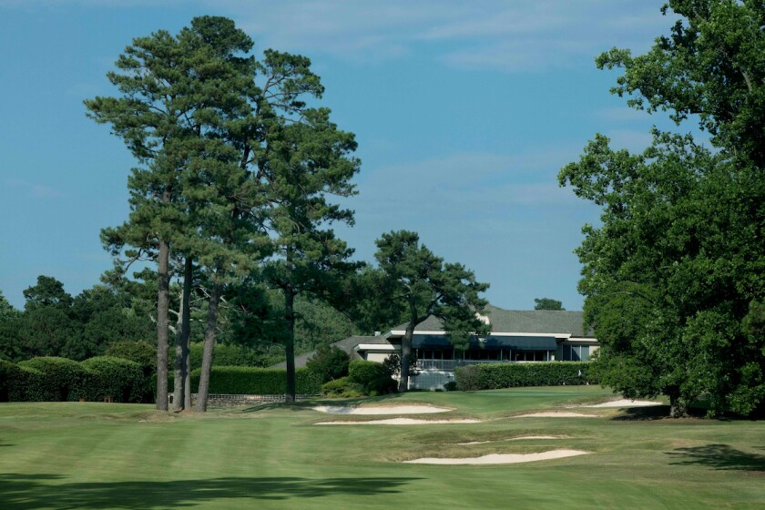 Raleigh Country Club 9th hole before renovation