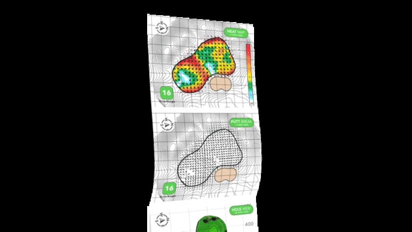 GolfLogix heat map