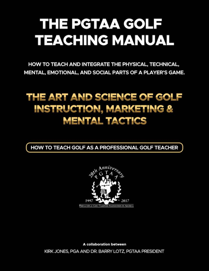 PGTAA Golf Teaching Manual cover