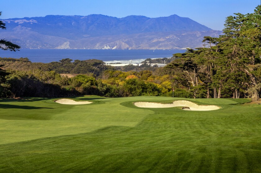 1st hole at The Olympic Club's Lake Course