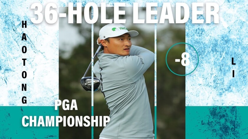 Haotong Li graphic 2020 PGA Championship 2nd round