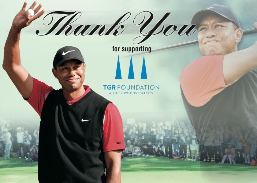 TGR Foundation Upper Deck Thank You card
