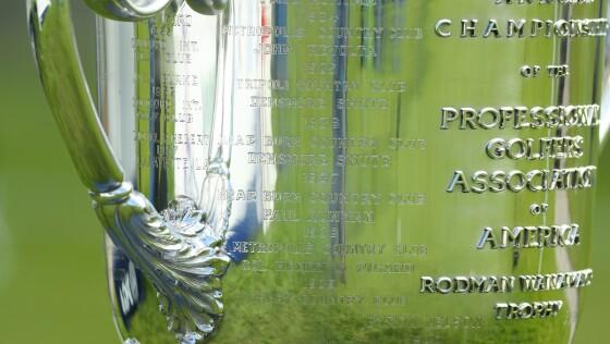 Wanamaker Trophy closeup PGA Championship