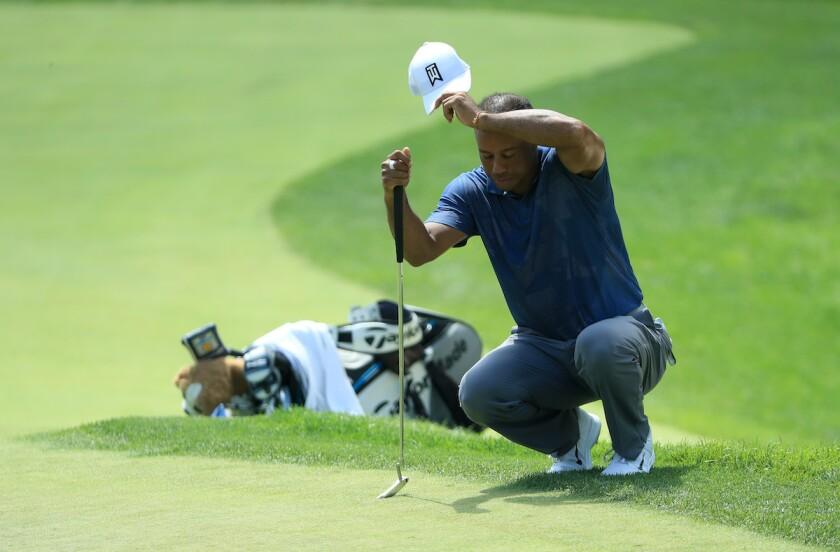 Tiger Woods 2020 Memorial round 2