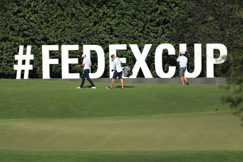 FedEx Cup sign at 2020 Tour Championship