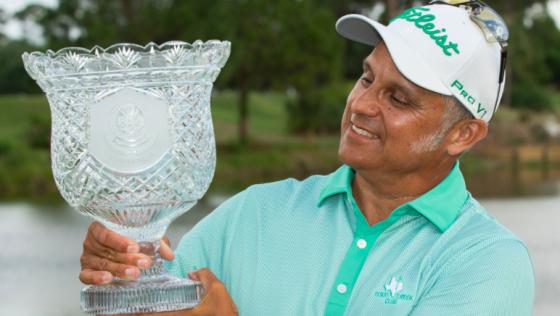 Omar Uresti holds 2021 Walter Hagen Trophy as PGA Professional Championship winner