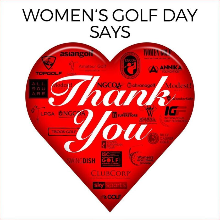 Women's Golf Day says Thank You