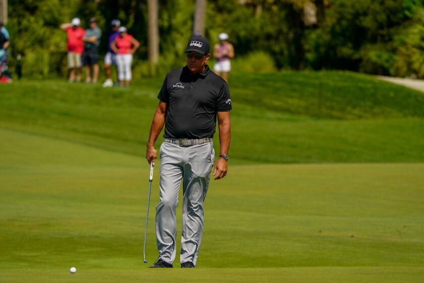 Phil Mickelson in 2nd round of 2021 PGA Championship