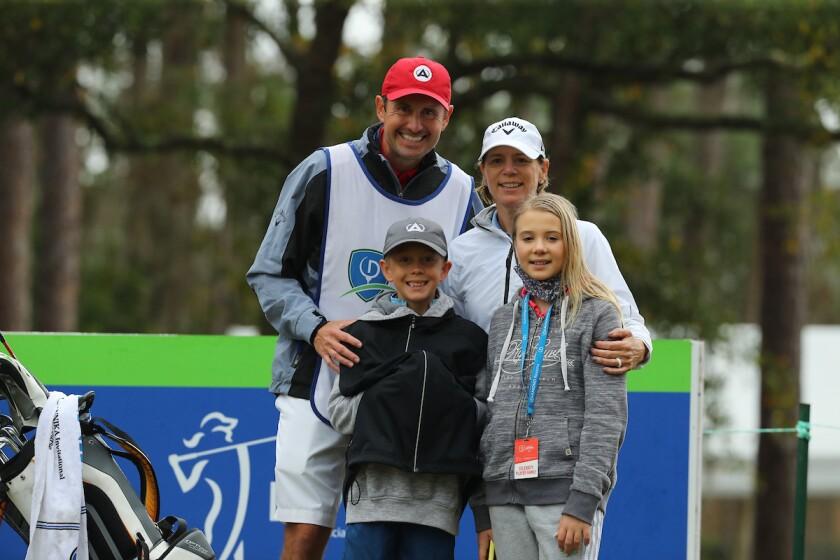 Annika Sorenstam and family at 2021 Diamond Resorts Tournament of Champions