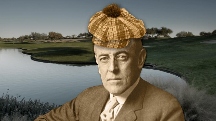Woodrow Wilson photo illustration
