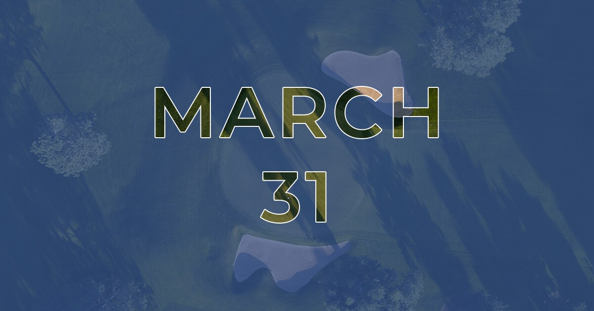 Golf News Hub - March 31 - Live COVID-19 Golf News