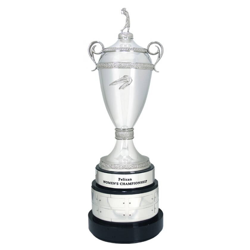 Pelican Women's Championship trophy by Malcolm DeMille