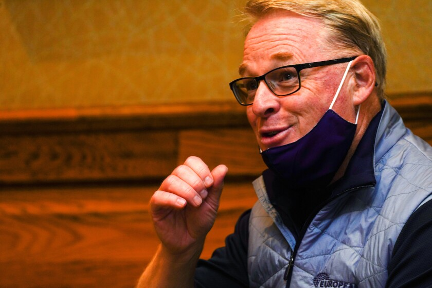 European Tour CEO Keith Pelley