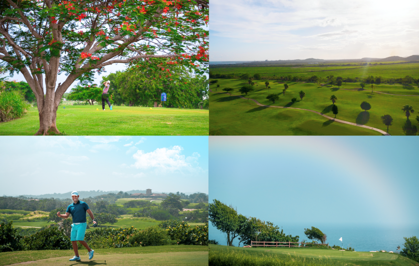 Discover Puerto Rico golf photo collage