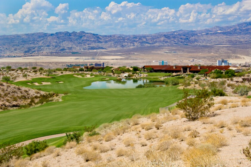 9th hole at Laughlin Ranch Golf Club in Bullhead City Arizona