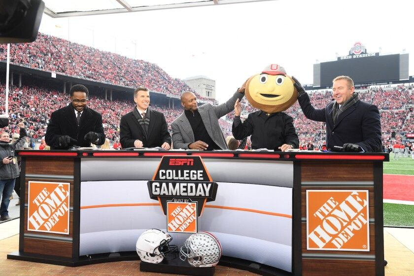 ESPN College GameDay November 23, 2019 Ohio Stadium