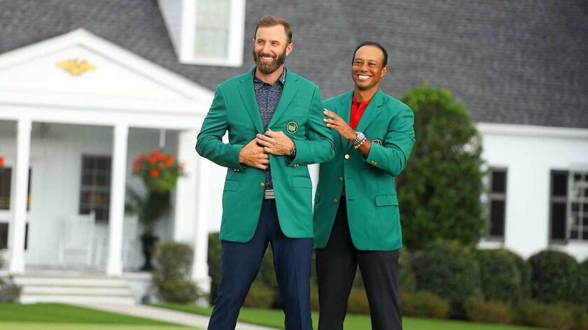 2020 Masters Sunday: Dustin Johnson and Tiger Woods