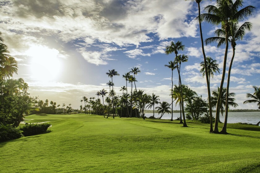 The 18th hole at St. Regis Bahia Beach and Golf Resort