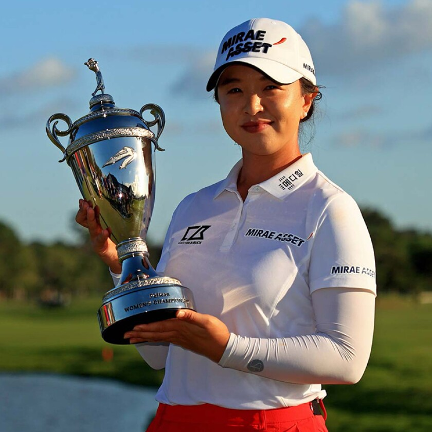 Sei Young Kim with Pelican Women's Championship trophy