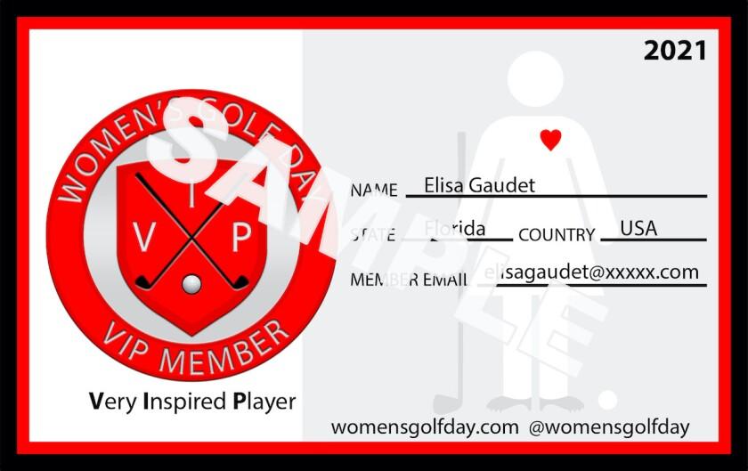 Women's Golf Day VIP member card