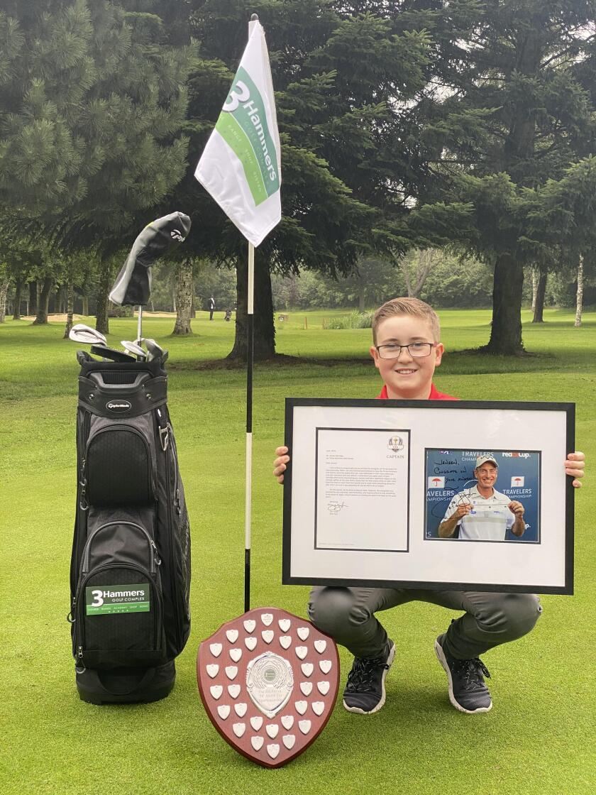 Jensen Berridge with Jim Furyk Award for Sportsmanship