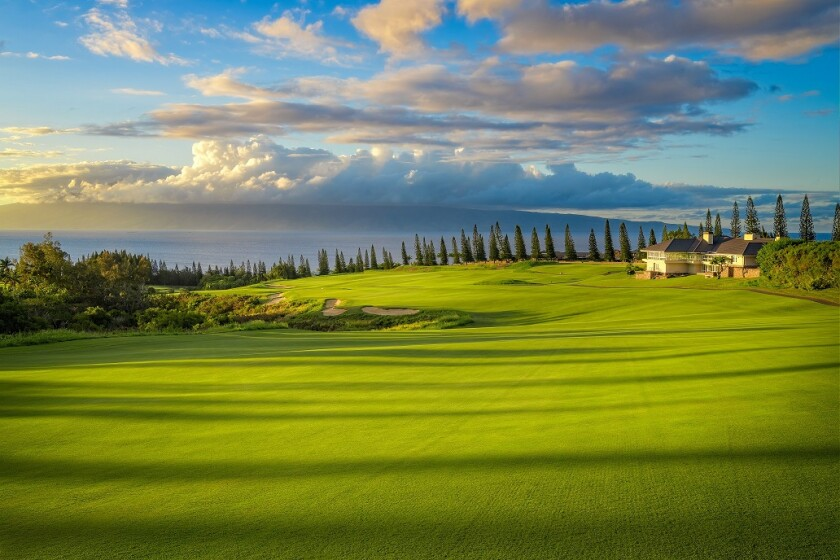 Kapalua Golf Plantation Course 18th hole