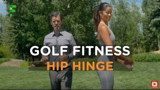 'Hip hinge' for a better setup position