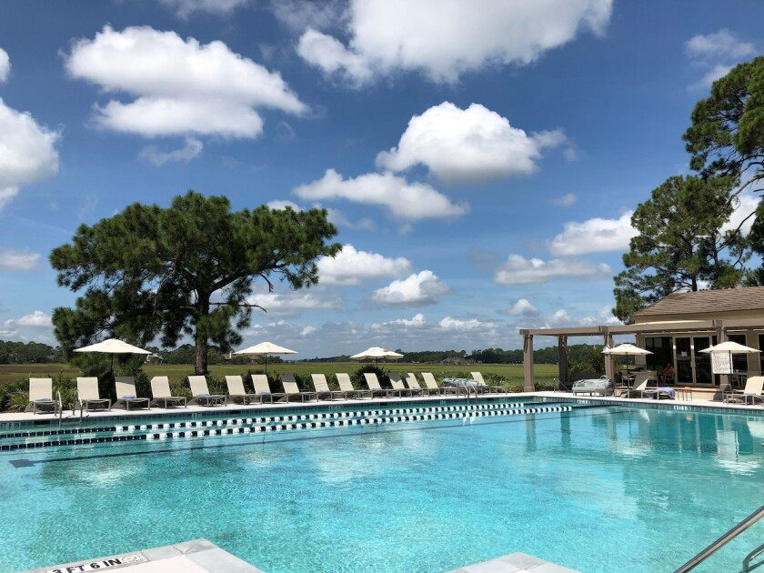 The pool at Sea Pines Country Club in Hilton Head Island, S.C.