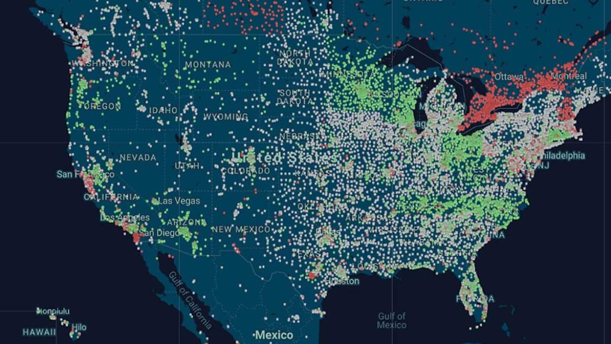 US Golf Map