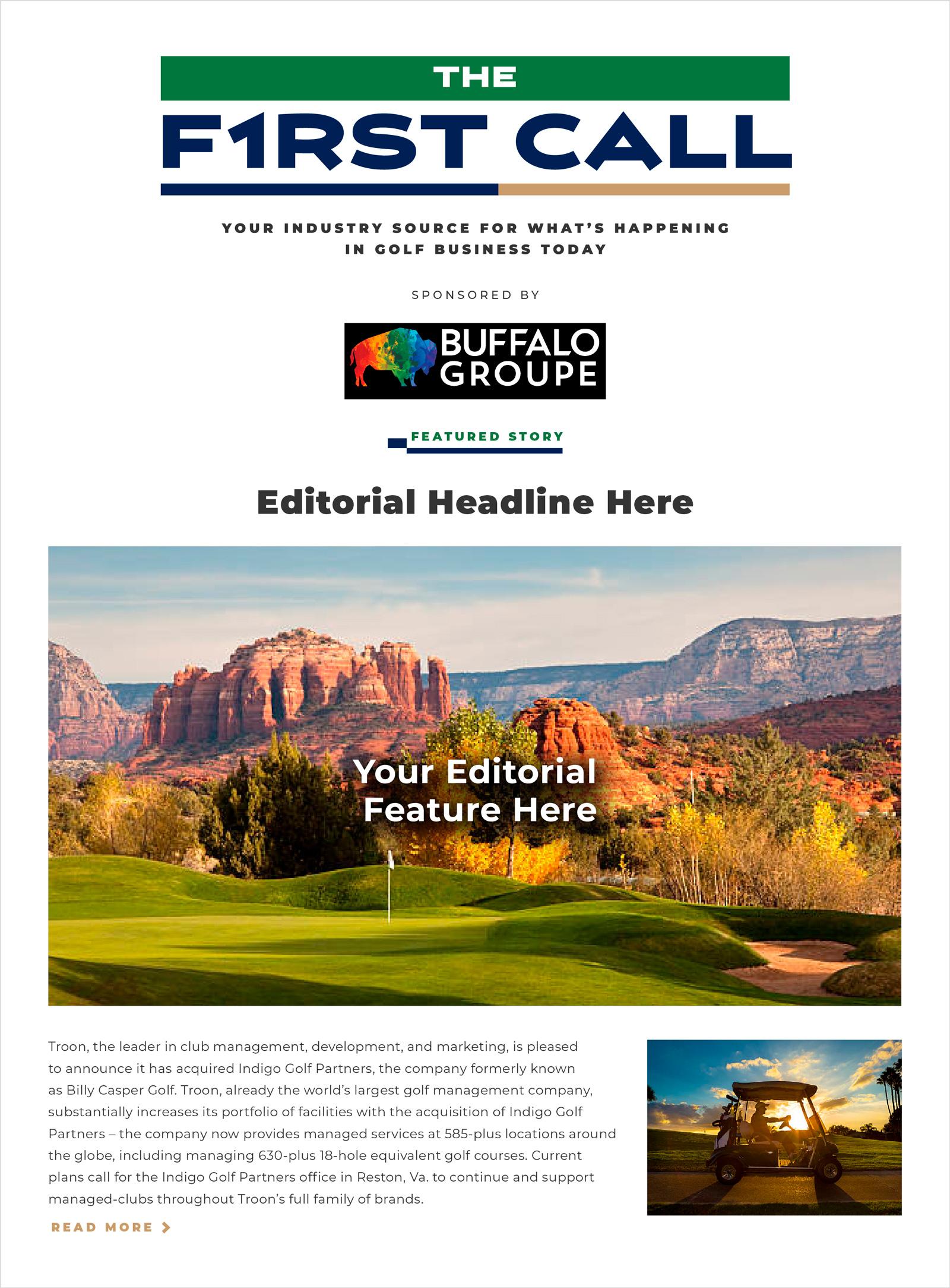 First Call Golf Newsletter Top Mock